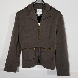 Joseph Ribkoff blazer with zippers & pockets
